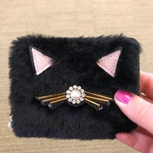 NWT Kate spade furry wallet